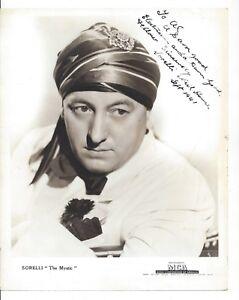Sorelli The Mystic Photograph Autographed 1941 Music Corporation Of America