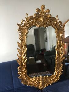 Details about Carvers Guild Carved Gilt Wood French Style Wall Mirror Belle  Jardin Model 1046