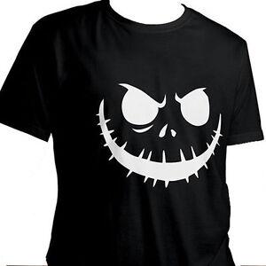 Jack-Skellington-Halloween-Nightmare-Before-Christmas-Unisex-Cotton-T-Shirt-XL