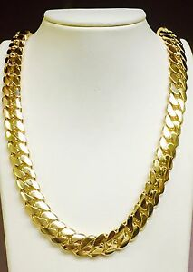 4f3a6c2dab9c0 Details about 14k Solid Gold Miami Cuban Curb Link 24