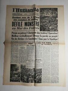 N389-La-Une-Du-Journal-L-039-humanite-29-mai-1945-defile-monstre