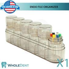 Endo File Plastic Organizer Dental Files Endodontic Tool Autoclavable 6 Tubes
