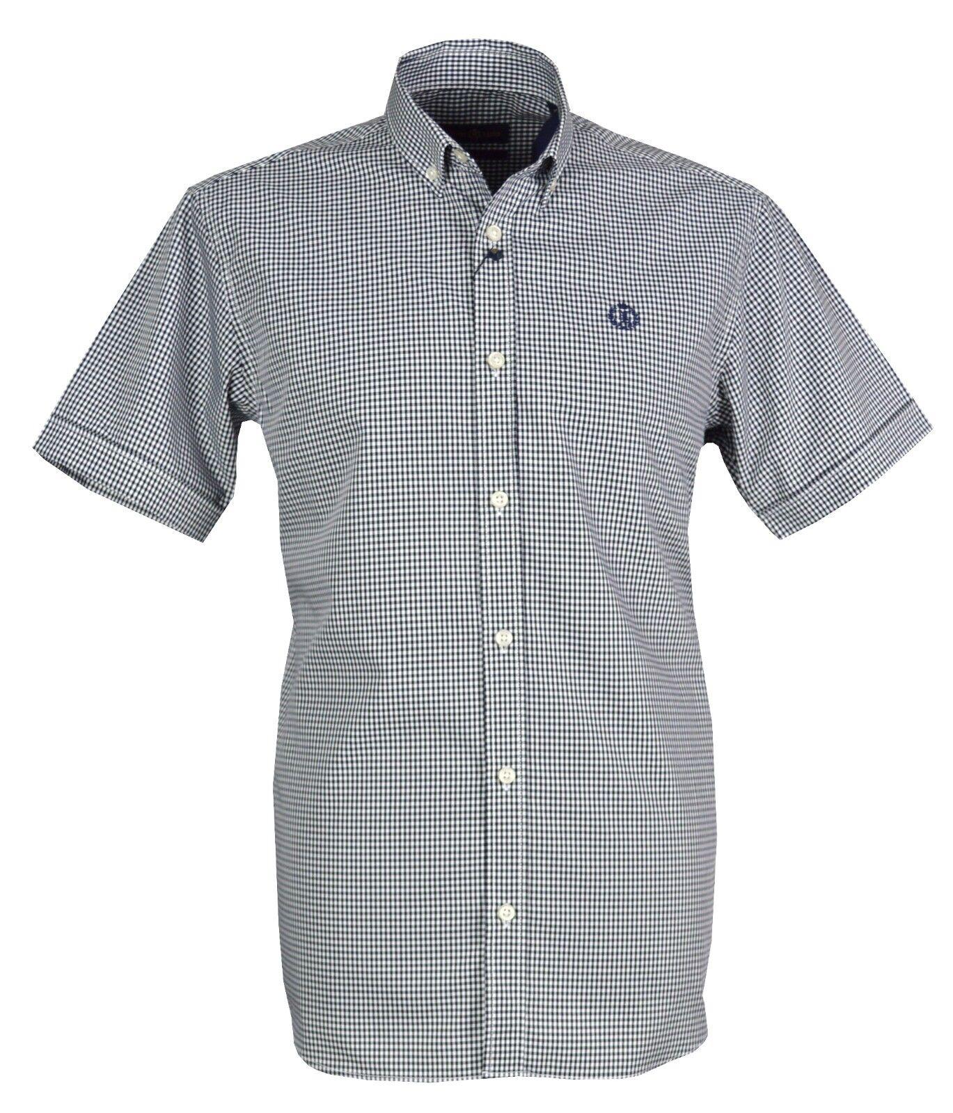 Henri Lloyd Men`s Ragnall Gingham Short Sleeves Shirt - MJ000025