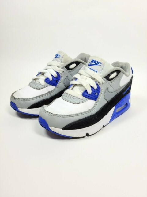 Nike Air Max 90 Ltr (ps) Cz9442-100 Youth 12c White Blue Black ...