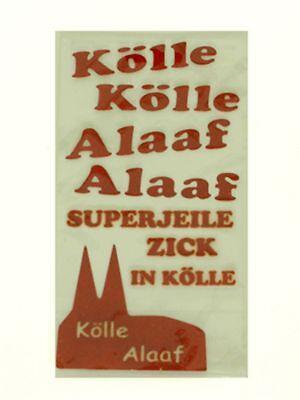 Basteln & Kreativität Spielzeug Kölle-alaaf-sticker Textil Karneval Accessoire Fasching