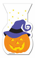 12 x Halloween Pumpkin Trick or Treat Loot Self Seal Party treat favour bags