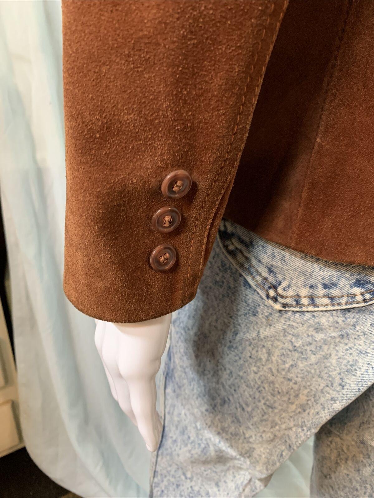 Vintage 1970s Casual Corner Leather Suede Brown J… - image 5