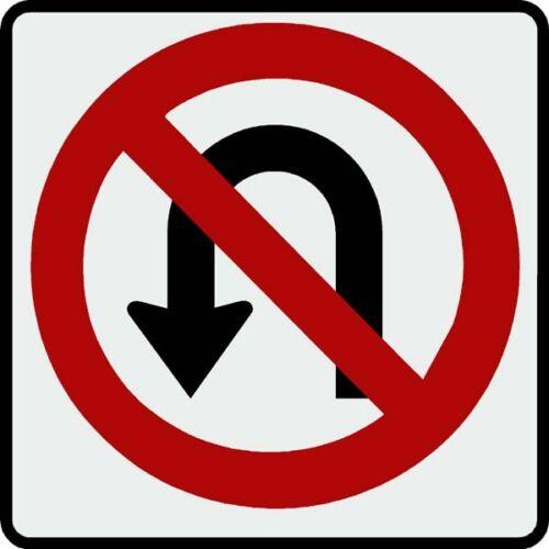 R3-4 No U Turn Sign