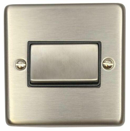 G/&h norme CSS369 Plaque en Acier Brossé 1 G Triple Pole 10 A Ventilateur Isolateur Switch