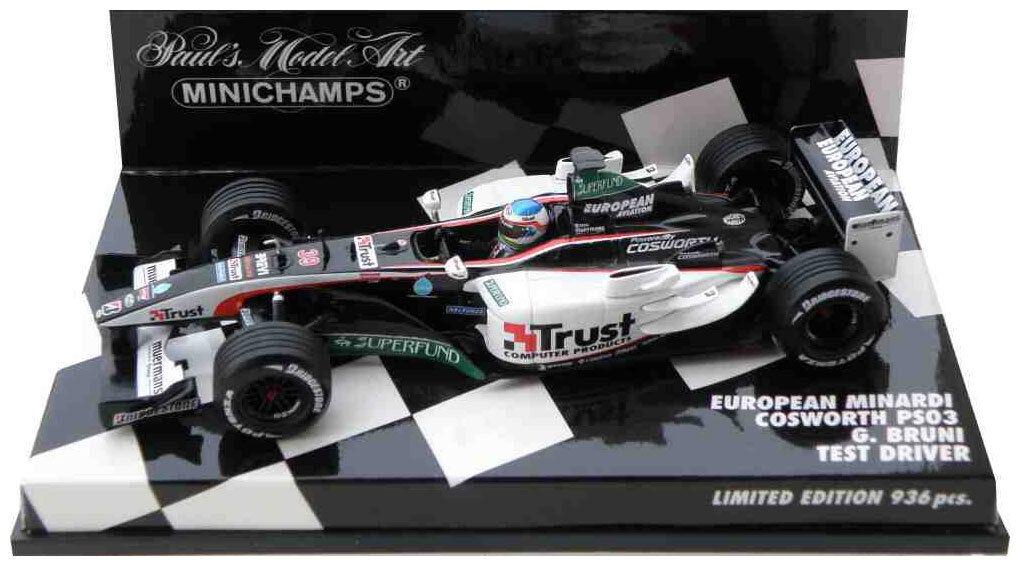 Minichamps MINARDI ps03 2003-Gianmaria BRUNI test Driver SCALA 2003