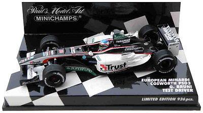 Gianmaria Bruni Test Driver 2003 1//43 Scale Minichamps Minardi PS03 2003