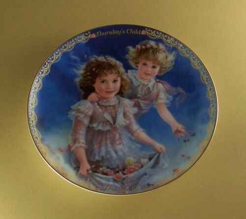 Precious Gifts Day by Day THURSDAY'S CHILD Plate #4 Fourth Issue Children Lovely