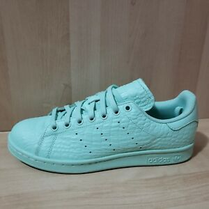 outlet boutique detailed pictures the cheapest Details about Women's ADIDAS Stan Smith sz 9.5 Alligator Print Leather  Shoes NEW AQ6806 green