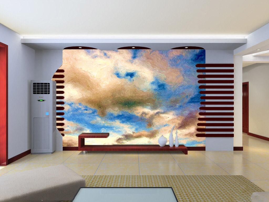 3D Clouds White 576 Wallpaper Murals Wall Print Wallpaper Mural AJ WALL UK Jenny
