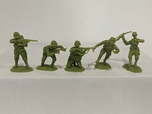 Conte-WWII-U-S-GI-039-S-Bloody-Omaha-5-Figures-Light-Green-Color-1-32-B