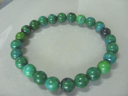 Elegante 8 mm chrysokoll Perle Bracciale//armkette bracelet 19,5 cm su Pilates