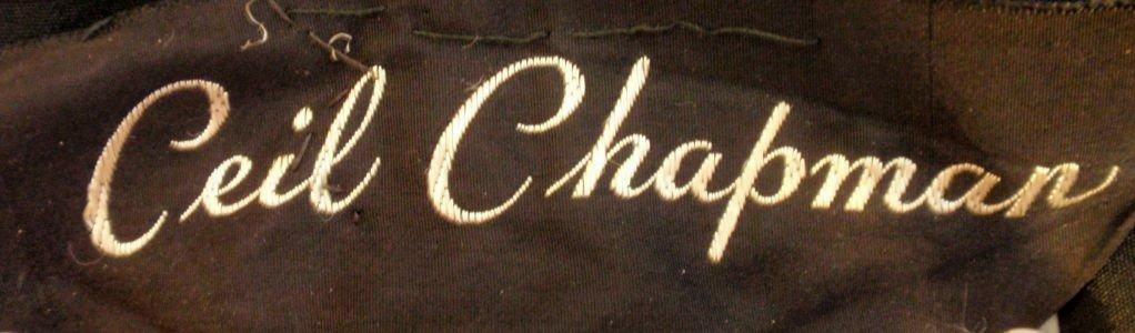CEIL CHAPMAN 1960s Black Hand Beaded Cocktail Dre… - image 10