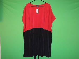 Lane Bryant Womens Size 14 / 16 Black / Red Oversized Shirt / Top NEW $79