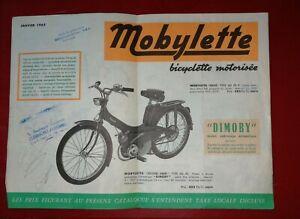 Catalogue D'époque Mobylette Motoconfort 01 1965