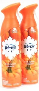 2-Febreze-8-8oz-Limited-Edition-100-Natural-Fresh-Harvest-Pumpkin-Air-Refresher