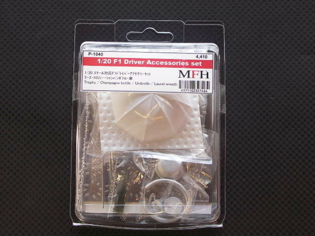 Mfh Model Factory Hiro 1 20 F1 Conductor Accesorios Set P1040 de Japón F   S