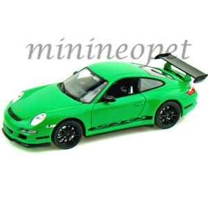 WELLY-22495-PORSCHE-911-997-GT3-RS-1-24-1-27-DIECAST-GREEN-with-BLACK-WHEELS