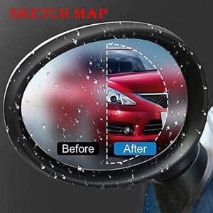 2x-Universal-Car-Anti-Fog-Blue-Water-Mist-Rainproof-Glass-Protective-Film-Top
