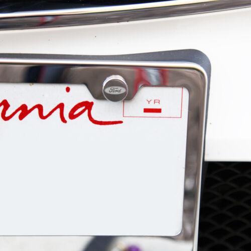 Laser Etched 4pcs Ford Car License Plate Frame Bolts Fastener Screws Cap Cover