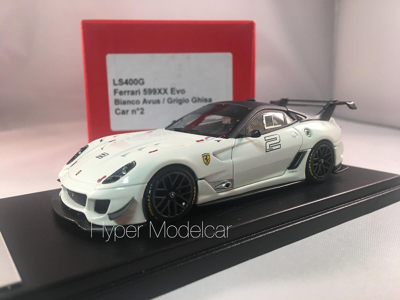 LOOKSMART 1 43 Ferrari 599XX EVO Bianco Avus Art. LS400G - no bbr