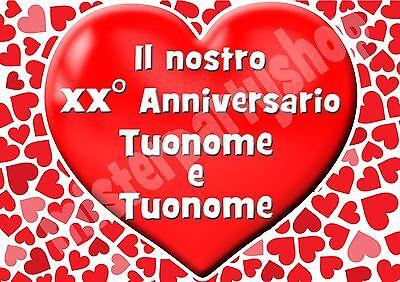 42x29 Ostia Per Torte Anniversario Matrimonio Formato Grande A3 Cm Open-Minded Cialda