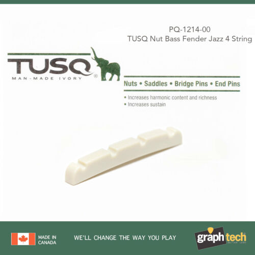 NEW Graph Tech PQ-1214-00 TUSQ Slotted Nut for Fender J Jazz Bass 4-String