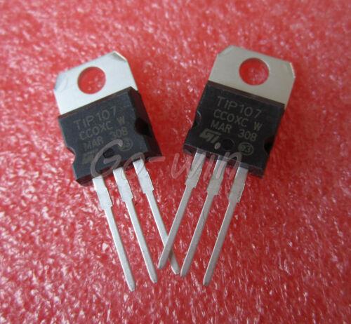 100PCS TIP107 FSC TRANS PNP DARL 100V 8A TO-220 NEW