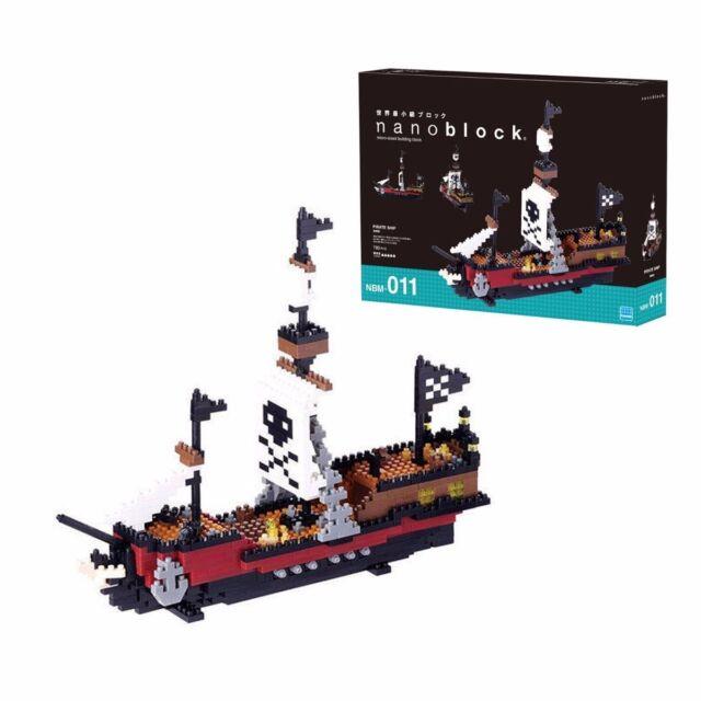*NEW* NANOBLOCK Pirate Ship - Nano Block Micro-Sized Building Blocks NBM-011