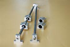 Shaft Rod Optical Axis Amp Linear Rail Support Ball Bearing Block Set 10mm 500mm