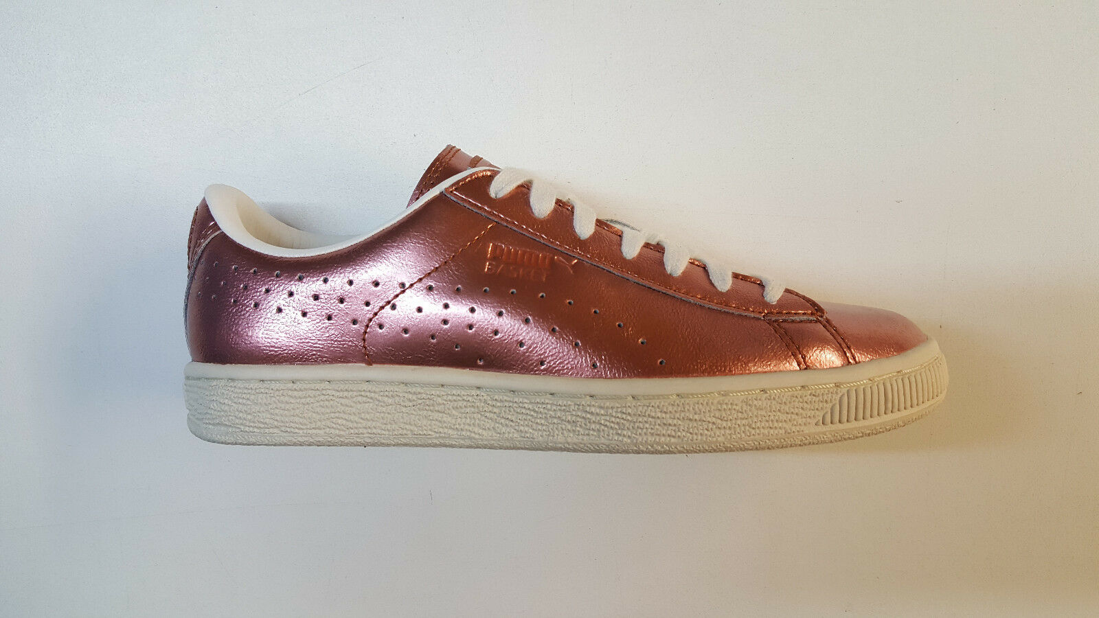 Puma Basket Citi Series Metallic Copper White Womens Sneakers 364165-01 1706-35 Brand discount