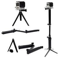 Three-way Folding Grip Arm Monopod Tripod Mount For Gopro Hero 4/3+/3/2 Camera