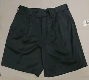 Jack-Nicklaus-Black-Pleat-Front-Golf-Shorts-Size-34-NWT