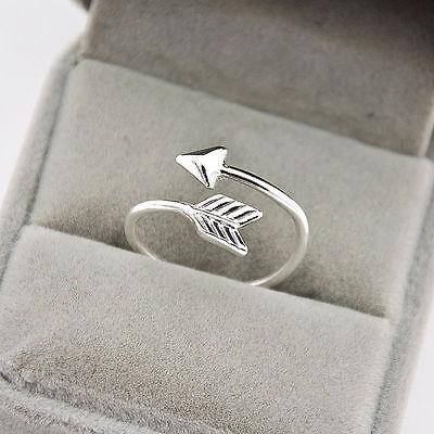 Fashion Women Jewelry Cute Arrow Triangle Ring Knuckle Midi Adjustable Love Gift
