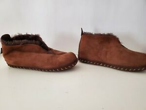 Cabelas Brown Leather Shearling Lined