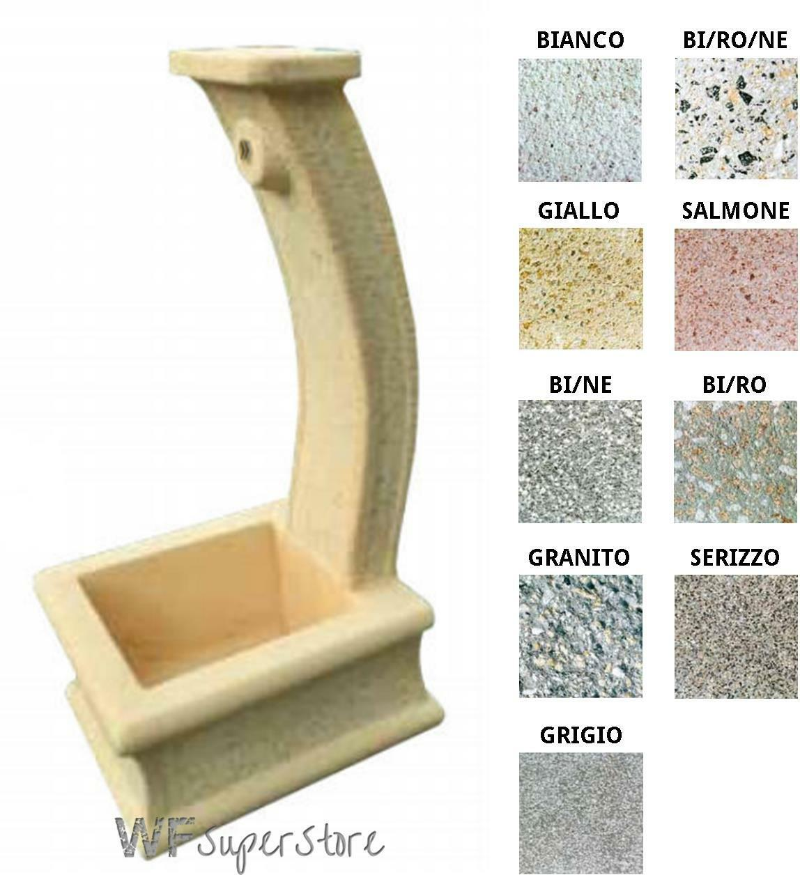 Fontana in pietra ricostruita Milù - fontanella esterno giardino
