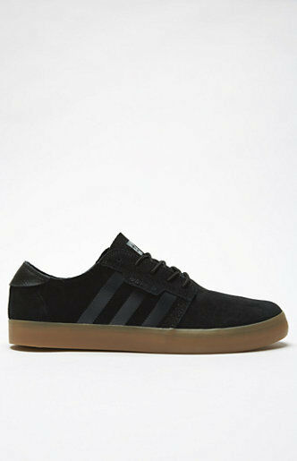 MENS GUYS adidas Seeley Essential Black & Gum shoes  SNEAKERS NEW 166
