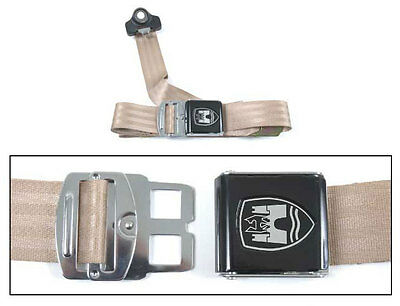 Chrome Buckle 50-67 Almond VW Volkswagen Split Screen 3-Point Seat Belt
