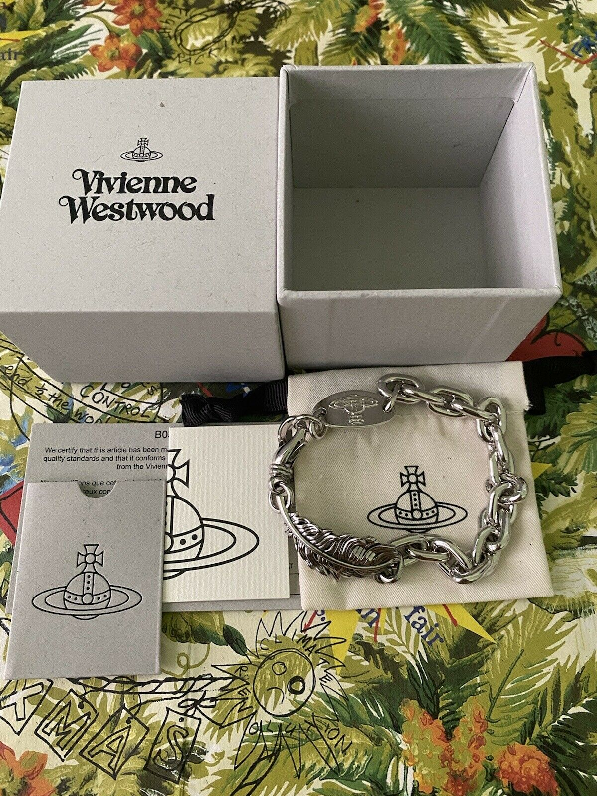 Vivienne Westwood Man Eugenio Bracelet Antique Rhodium. RRP 💯 Authentic.