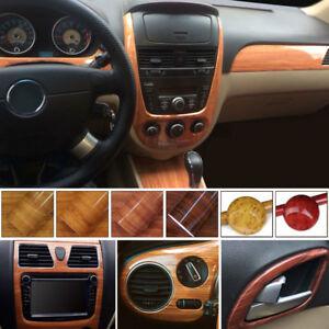 1m High Glossy Wood Grain Vinyl Sticker Decal Roll Car Interior Diy