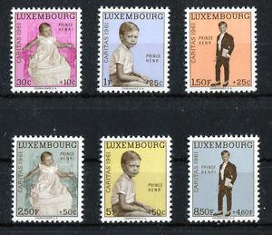 Lussemburgo n. 649 - 654 ** Post freschi Caritas 1961 MNH