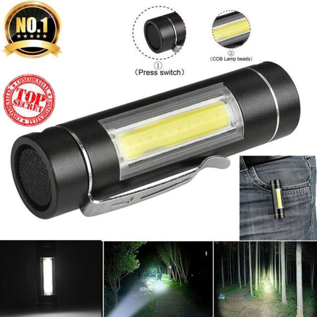 Super Bright XPE Q5 + COB LED mini Flashlight Small Torch Pocket Lamp Light