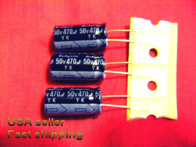 3 pcs  -  470uf 50v   electrolytic capacitors FREE SHIPPING