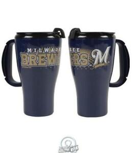 MLB-Baseball-Milwaukee-Brewers-16-Ounce-Roadster-Tumbler-Plastic-Mug-Coffee-Cup