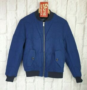 Levis-Made-amp-Crafted-Blue-Mountain-Puffa-Bomber-Baseball-Gepolstert-Jacke-S-310
