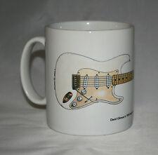 Guitar Mug. David Gilmour's 0001 Fender Stratocaster Illustration.